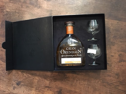 Tequila Gran Orendain Reposado con copas