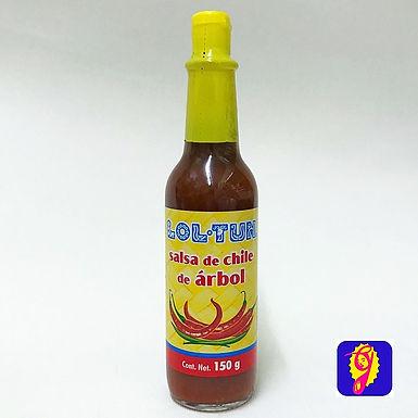 Salsa de Chile de Arbol Lol Tun