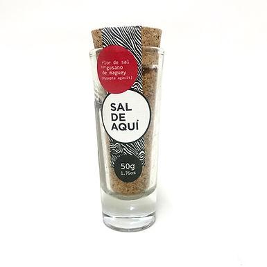 Flor de sal mit Wurm Sal de Aqui