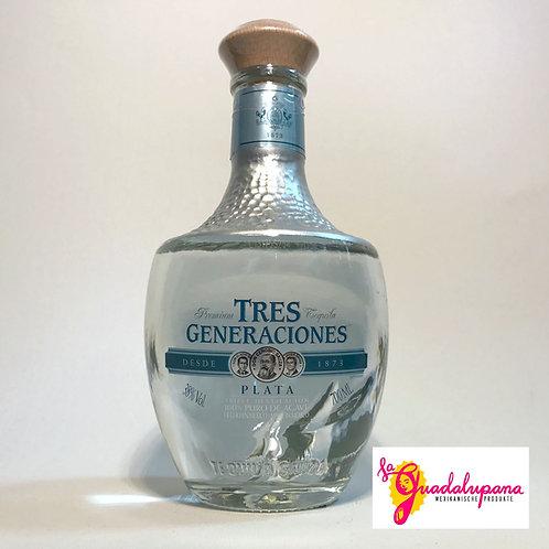Tequila Tres Generaciones Plata