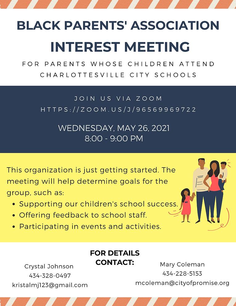 Interest Meeting Black Parents Assoc. (1