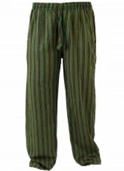 Pantalone cotone rigato Nepal