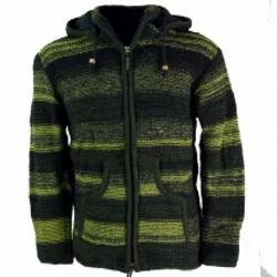 Giacca pura lana del Nepal con pile