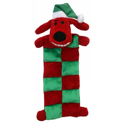 CHRISTMAS LOOFA DOG SANTA MAT 33cm