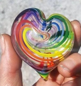 Rainbow heart with extra clear