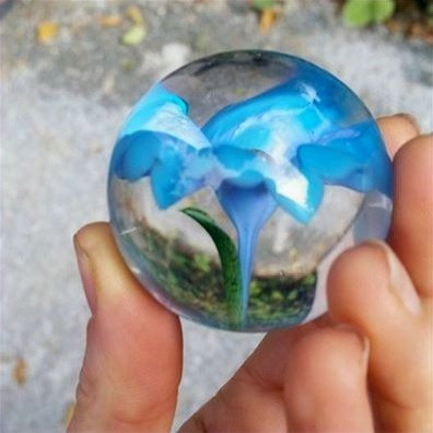 Flower marble