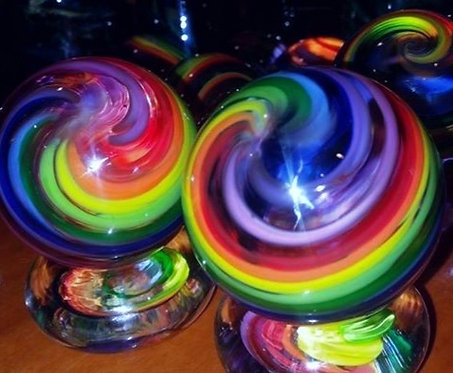 Rainbow Marble- Frit