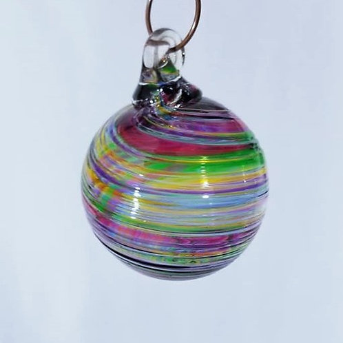 Glass ornament- small multicolor