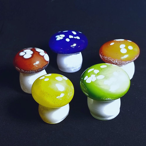 Glass Mushroom sculpture colored