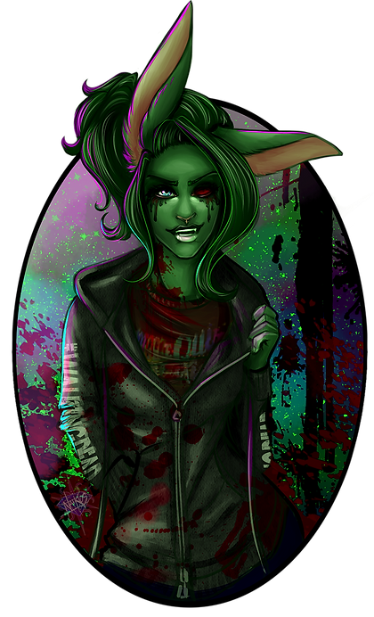 quick_paint_bust__zombun_by_naikios-dbt9