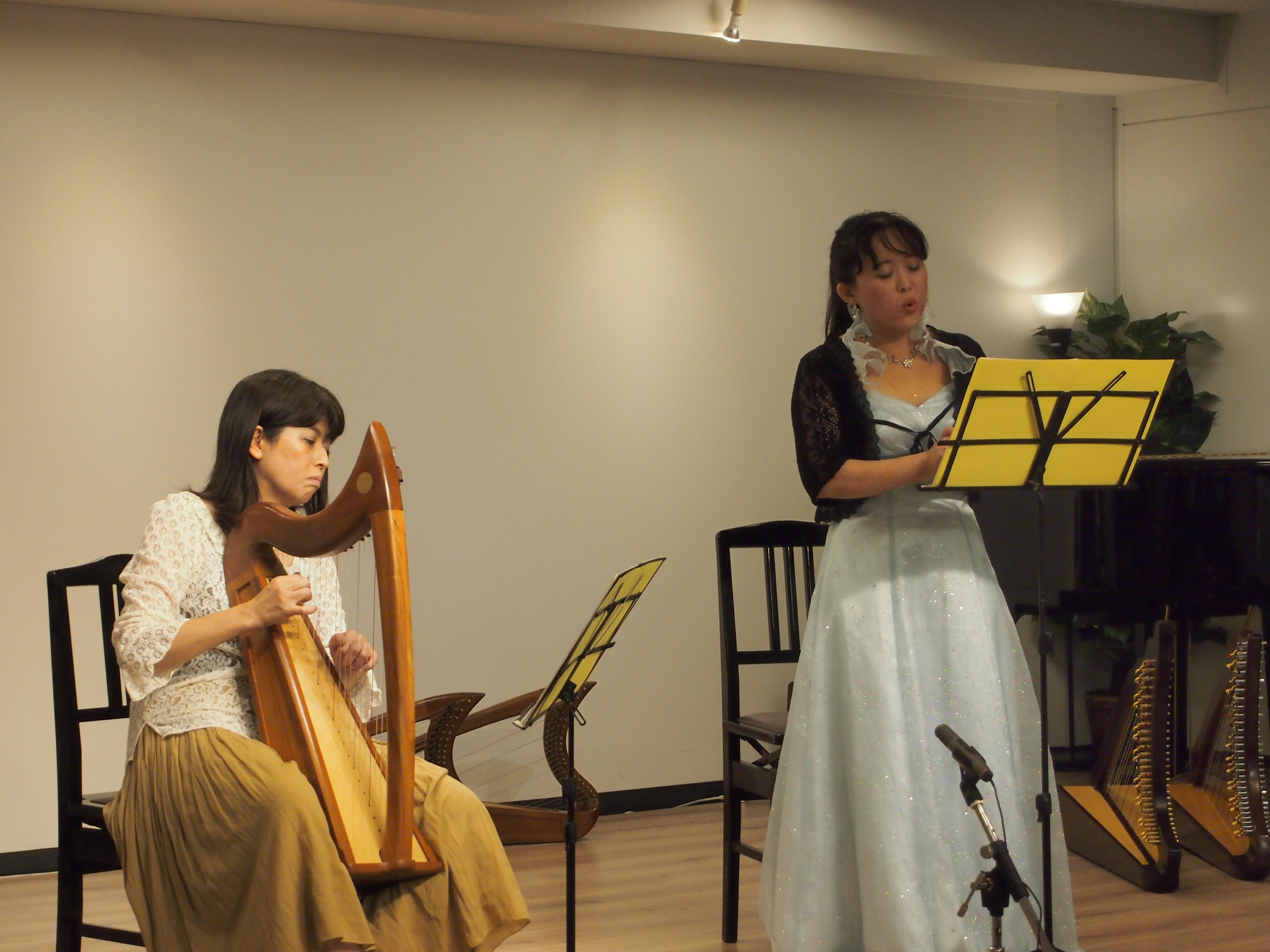 田中麻里アイリッシュ・ハープ教室発表会(2014年7月)