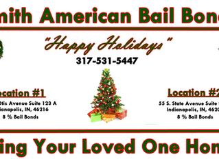 8% Holiday Bail Bonds! Home For The Holidays! 24 HR Bail Bond! #1 Bail Bond Agency! 317-531-5447