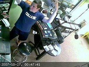Early Nathan Invincible dancing at WMTU
