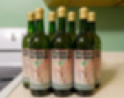 Homemade Rhubarb wine from Michigan