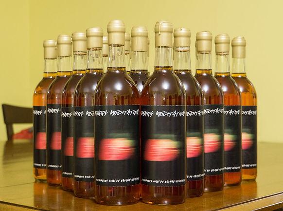 Homemade Strawberry wine from the Keweenaw