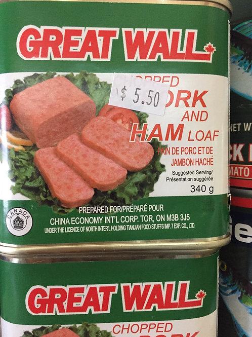 Pain de porc et de jambon haché