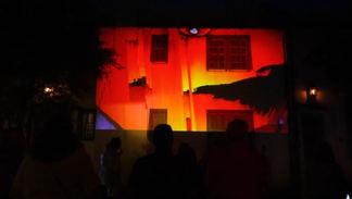 Digital Graffiti Overhead Colors Projection