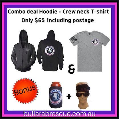 Hoodie & Crew Neck T-Shirt Combo
