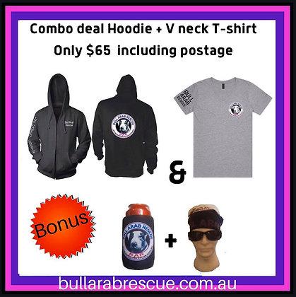 Hoodie & V Neck T-Shirt Combo!