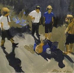 Boys Plotting   |   acrylic on paper   |   £50