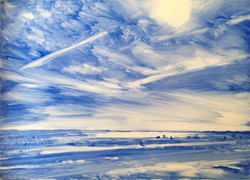 Lines (West Wittering)   |   oil on board   |   £50