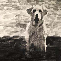 Dog   |   acrylic on paper   |   £50