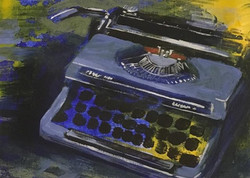 "Silver Reed II  |   acrylic on paper   |   7"" x 5""   |  £50"