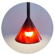 lámparita luzilda, vidrío de borosilicato esmaltado al fuego