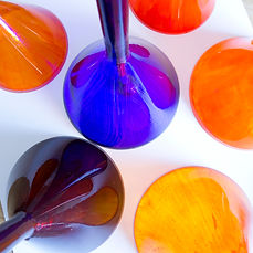 luzilda lámpara de cristal esmaltada nachomonterodesign
