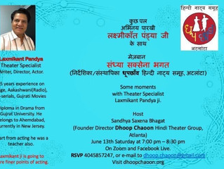 Acting workshop With LaxmiKant Pandya