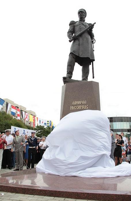 Открытие памятника адмиралу Нахимову П.С.