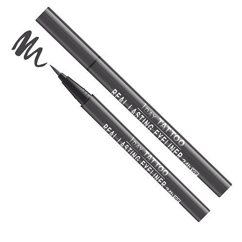Real Lasting Waterproof Eyeliner - Natural Black