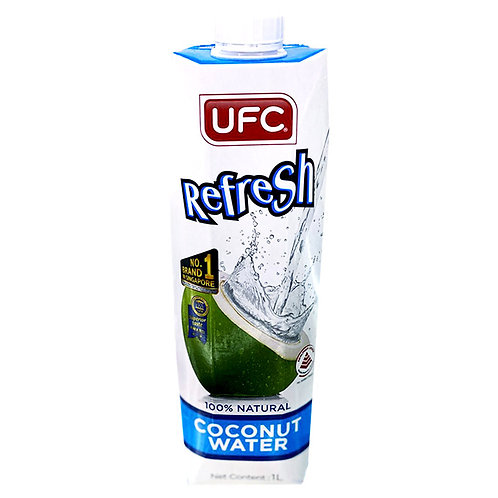 UFC Refresh 100% Natural Coconut Water 4 x 500ml