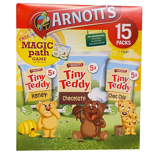 Arnott's Tiny Teddy Biscuits - Assorted (15 per pack)