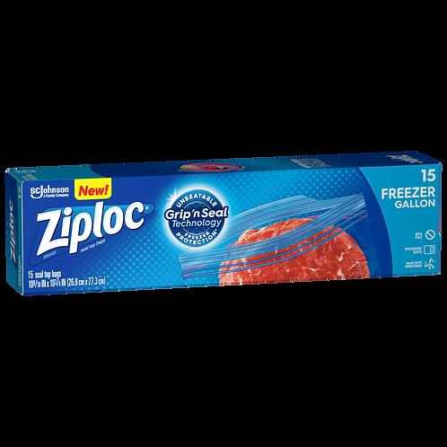 Ziploc Gallon Freezer Bag 15's