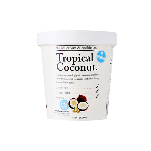 The Ice Cream & Cookie Co. Ice Cream - Tropical Coconut 473ml