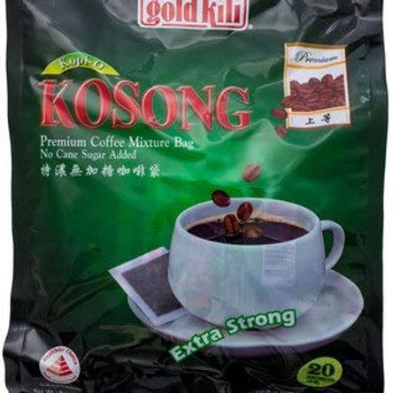Gold Kili Kopi O Kosong - Extra Strong (No Cane Sugar Added) 20 x 10g