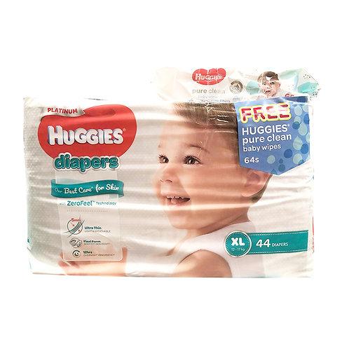 Huggies Platinum Diapers - XL (12 - 17kg)