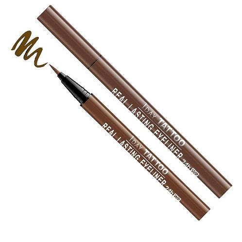 Real Lasting Waterproof Eyeliner - Deep Brown
