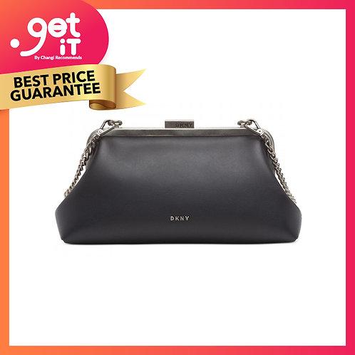 DKNY Vintage Clutch/ Crossbody Bag- Black/ White
