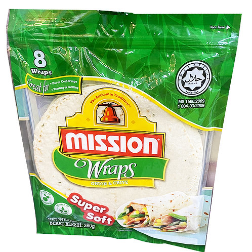 Mission Wraps - Onion & Chives 360g (8 per pack)