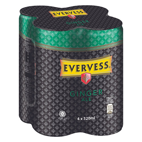 Evervess Can Drink - Ginger Ale 4 x 320ml