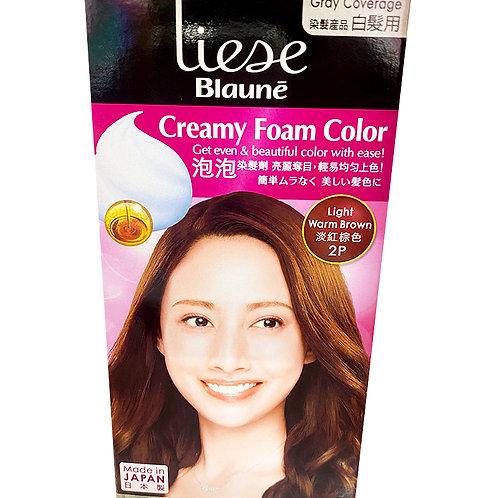 Liese Blaune Creamy Foam Colour - Light Warm Brown (2P)