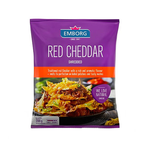 Emborg Shredded Cheese - Red Cheddar 200g