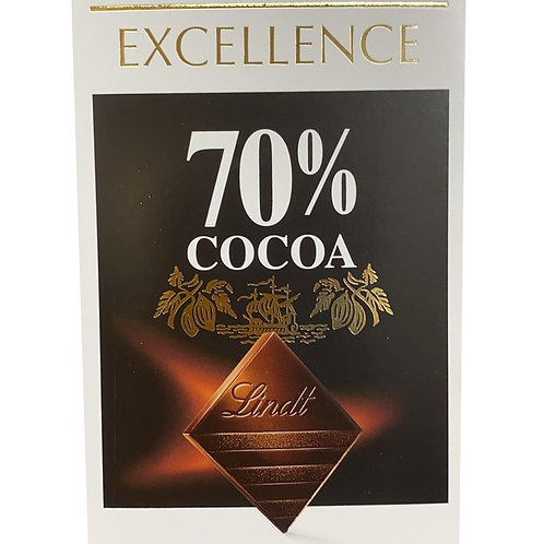Lindt Excellence Chocolate Bar - 70% Cocoa (Intense Dark) 100g
