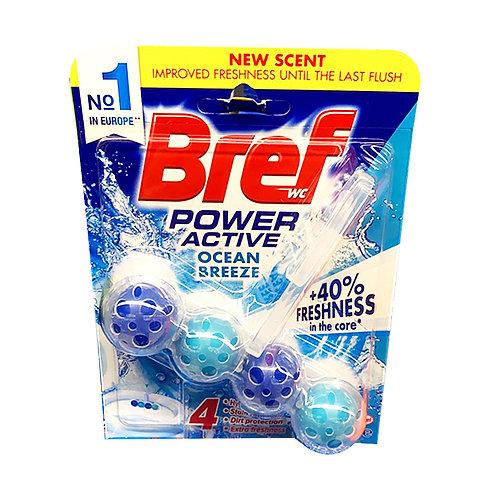 Bref Power Active Toilet Cleaner & Freshener - Ocean Breeze 50g
