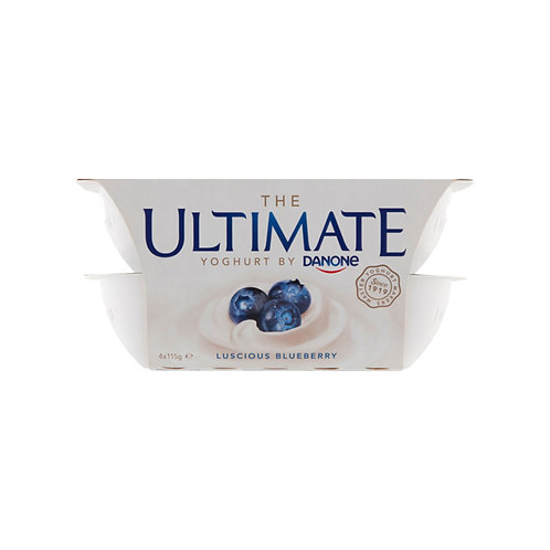 Danone Ultimate Yoghurt - Luscious Blueberry 4 x 115g