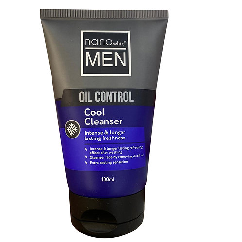 Nano White Men Oil Control Face Cleanser - Cool 100ml