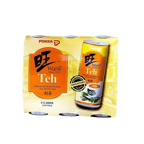 Pokka Wang Can Drink - Teh 6 x 240ml