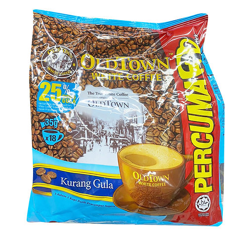 Old Town 3 in 1 Instant Premix White Coffee - Less Sugar 18 x 35g